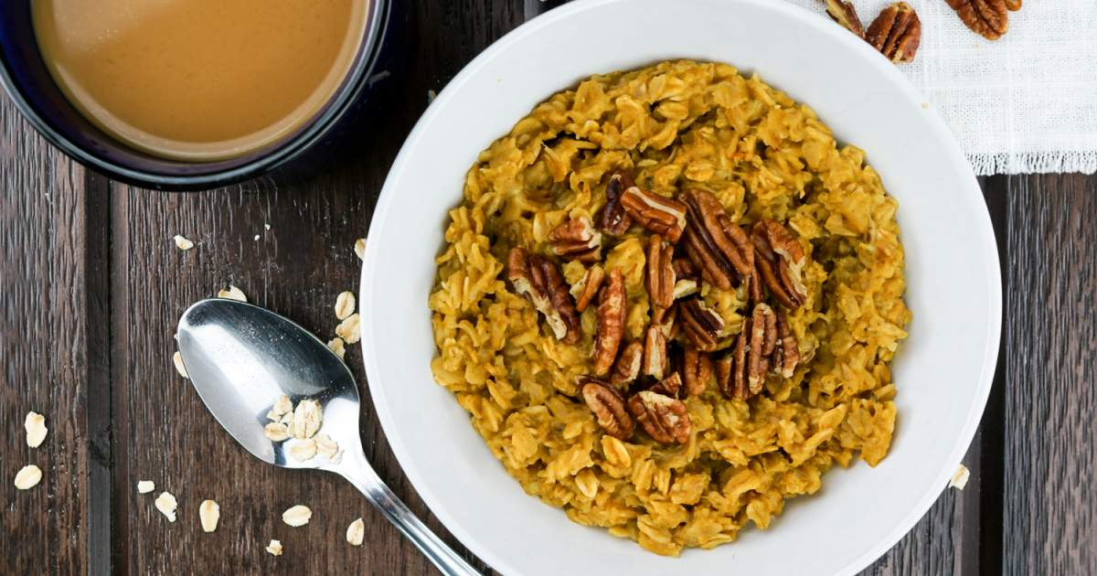 Pumpkin Pie Oatmeal - Microwave or Stove Top