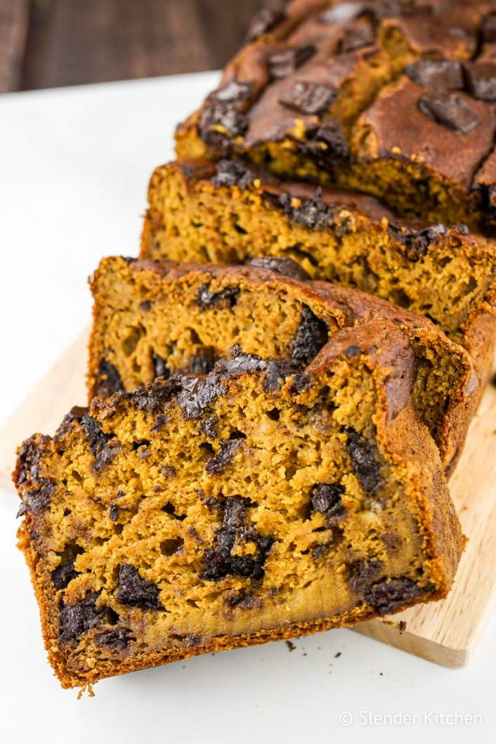 Healthy Chocolate Chip Banana Bread is moist and delicious.