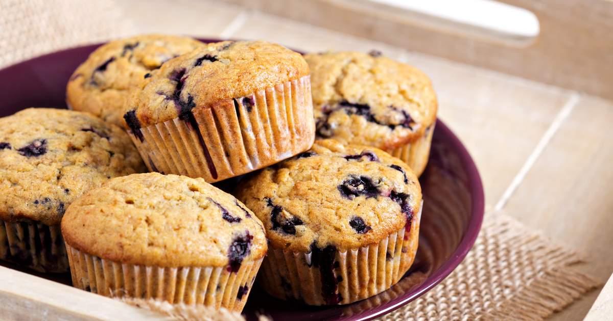 Jumbo Blueberry Oat Muffins - Slender Kitchen