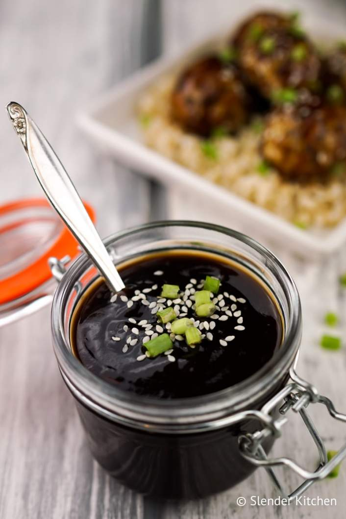 Healthy Homemade Teriyaki Sauce and Zucchini Meatballs