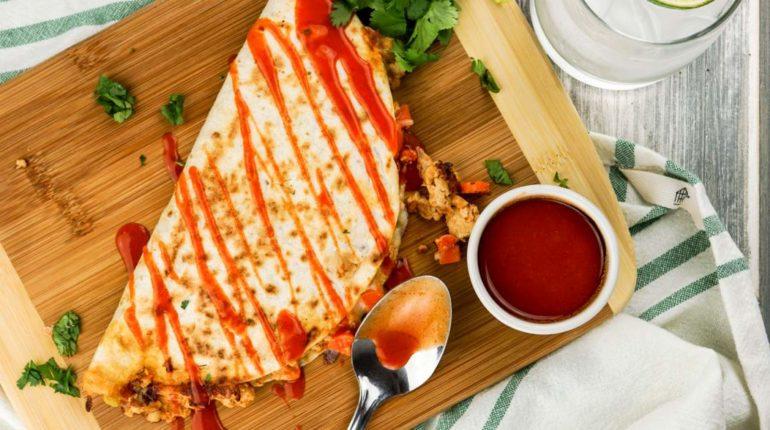Buffalo Chicken Quesadillas - Slender Kitchen
