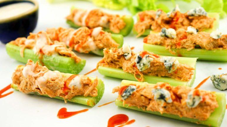 Buffalo Chicken Celery Bites - Slender Kitchen