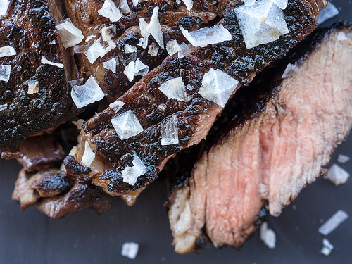 JACKIE ALPERS FOOD PHOTOGRAPHY: Maldon sea salt as an accent on pan seared steak