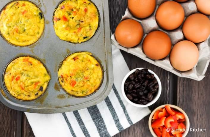 Southwest Black Bean Egg Muffins make