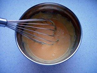 caster sugar + yolks creamed
