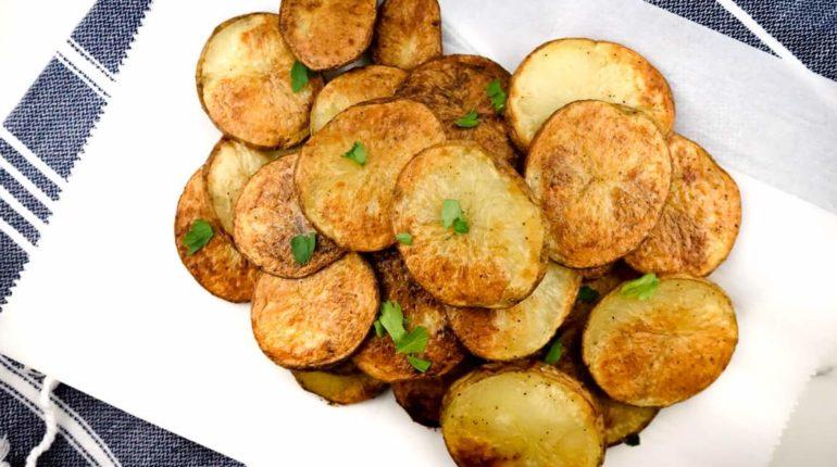 Baked Potato Chips - Slender Kitchen