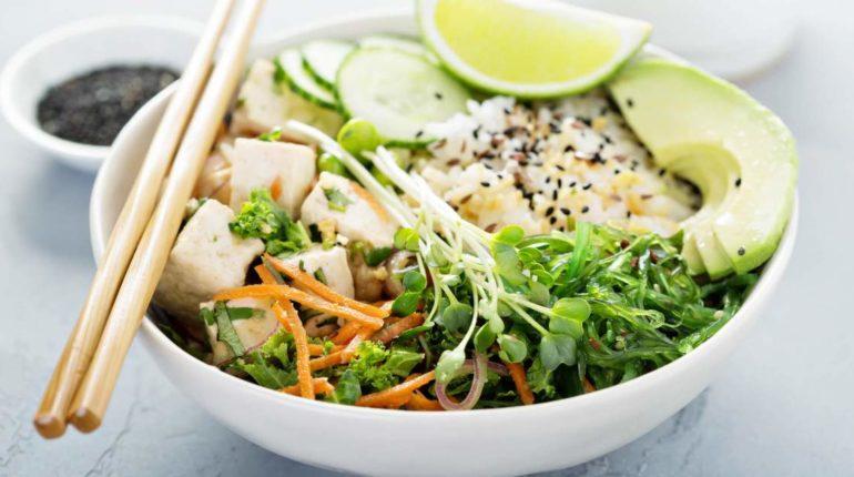 Spicy Vegetarian Sushi Bowls - Slender Kitchen