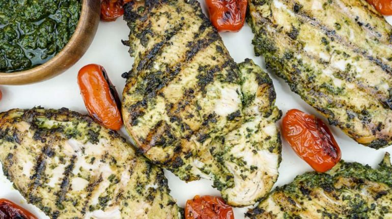 Pesto Chicken - Grilled or Baked