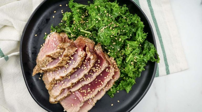 Sesame Soy Grilled Tuna - Slender Kitchen